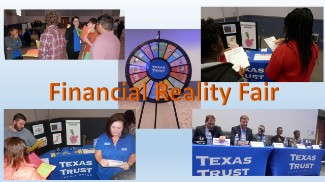 Collage of Pictures from Financial Reality Fair